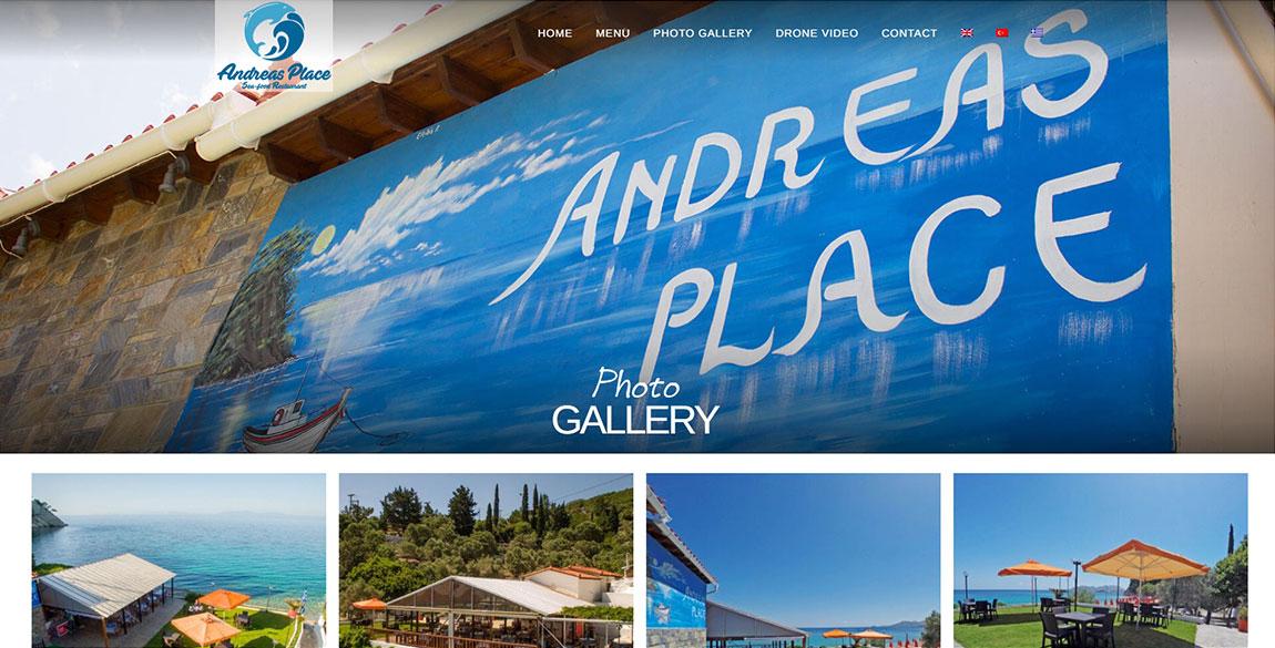 κατασκευή ιστοσελίδας Andreas Place