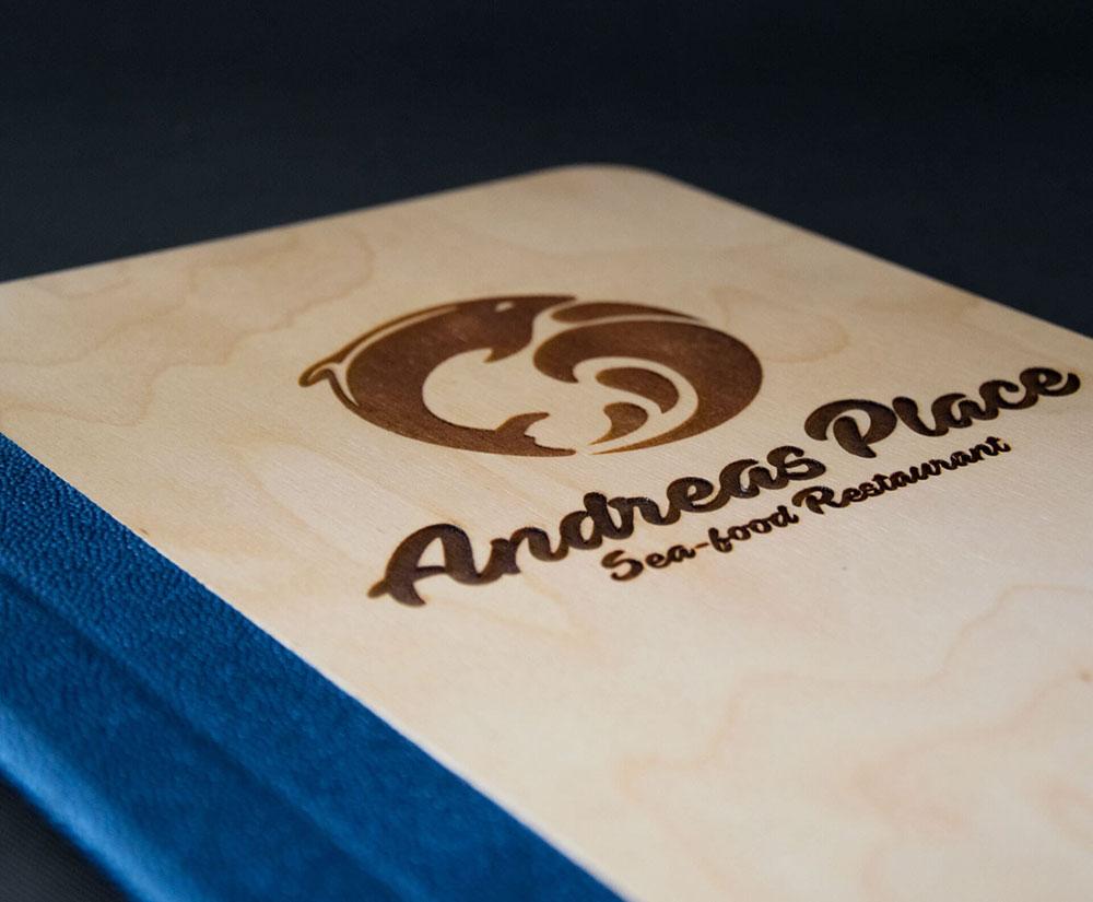κατάλογος menu Andreas Place Sea-Food Restaurant