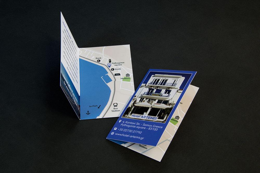επαγγελματική κάρτα ξενοδοχείου Hotel Artemis