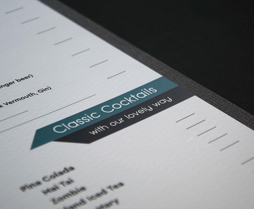 κατάλογος menu Cavos Bar