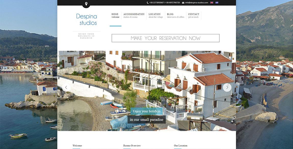 κατασκευή ιστοσελίδας Despina Studios