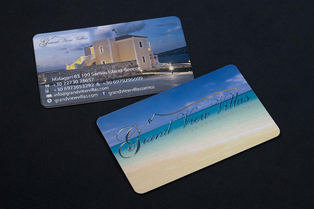 επαγγελματική κάρτα βιλών Grand View Villas