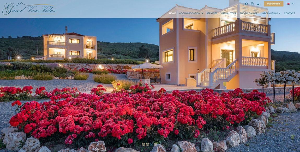 κατασκευή ιστοσελίδας Grand View Villas