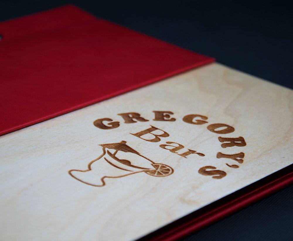 κατάλογος menu Gregory's Bar