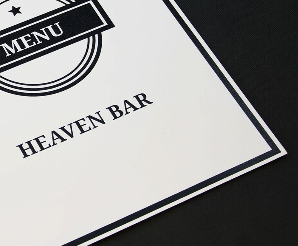 κατάλογος menu heaven bar