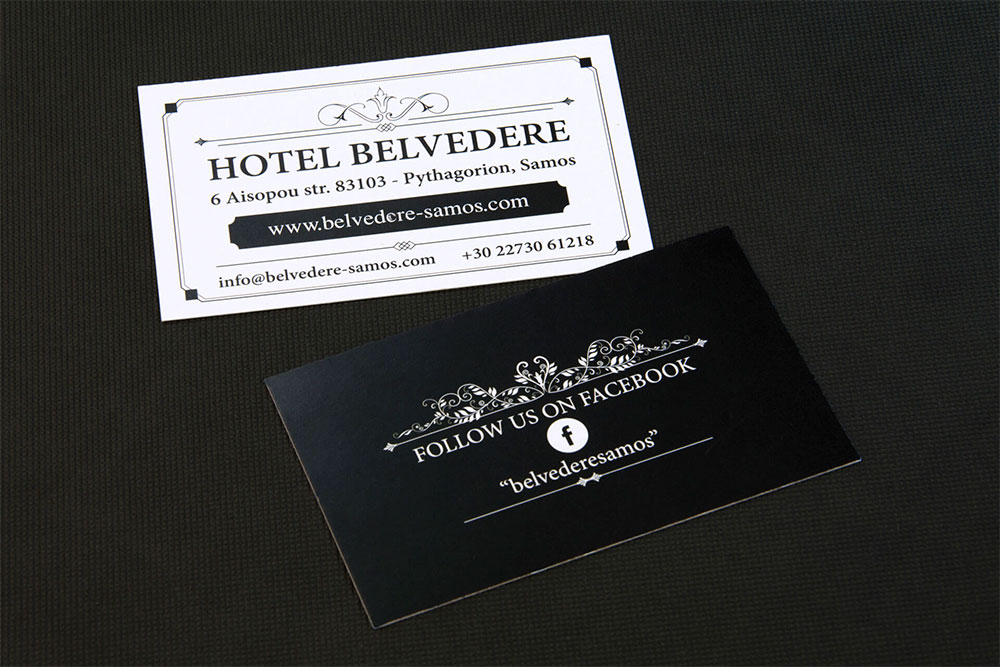 επαγγελματική κάρτα ξενοδοχείου Hotel Belvedere