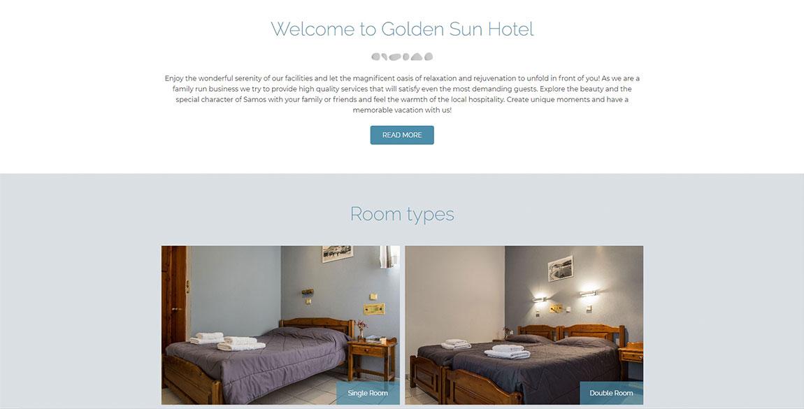 κατασκευή ιστοσελίδας Golden Sun Hotel