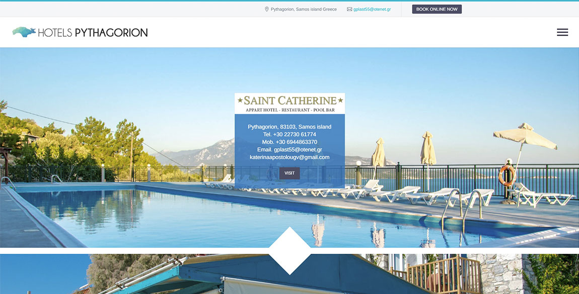 κατασκευή ιστοσελίδας Hotels Pythagorion