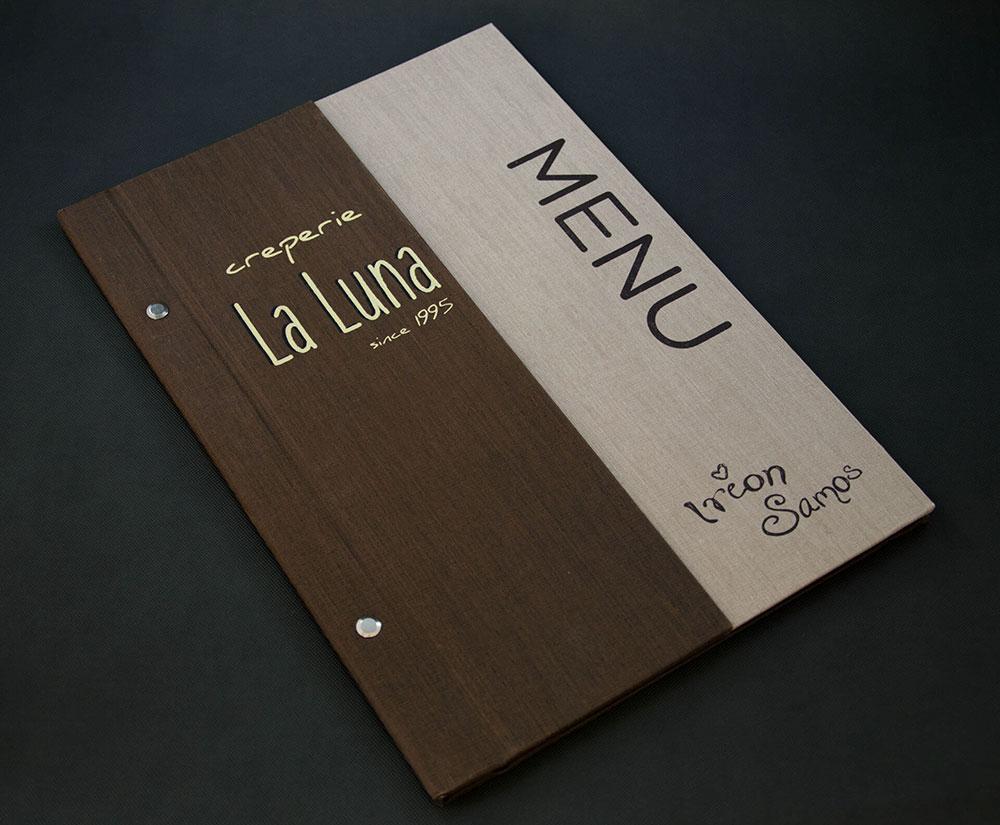 κατάλογος menu La Luna Creperie