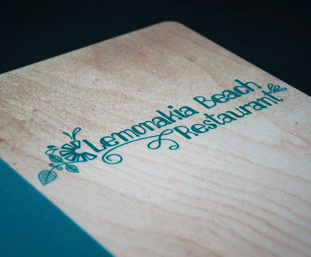 κατάλογος menu Lemonakia Beach Restaurant
