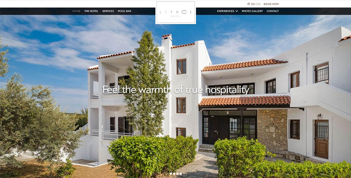 κατασκευή ιστοσελίδας Lithos Hotel