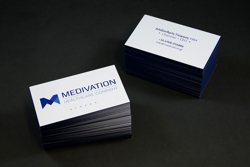 επαγγελματική κάρτα εταιρείας Medivation Healthcare