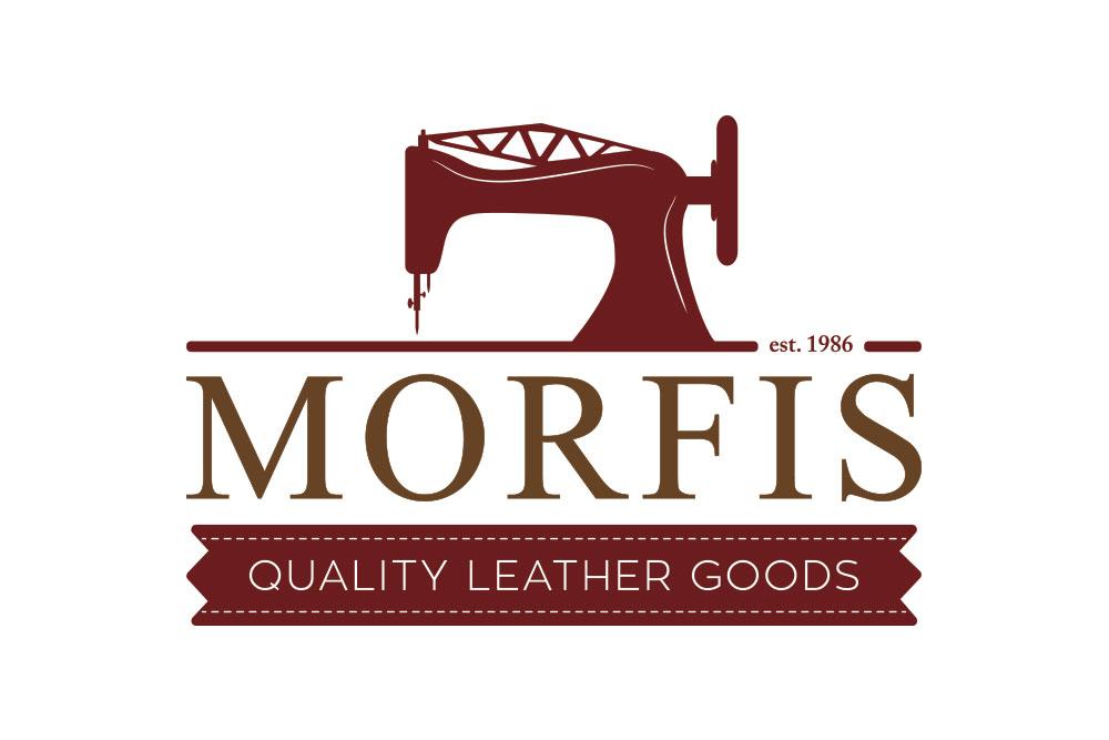 λογότυπο καταστήματος με δερμάτινα είδη Morfis