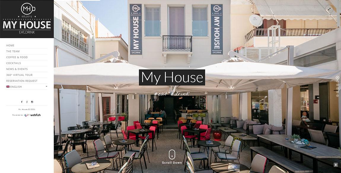 κατασκευή ιστοσελίδας MyHouse Bar