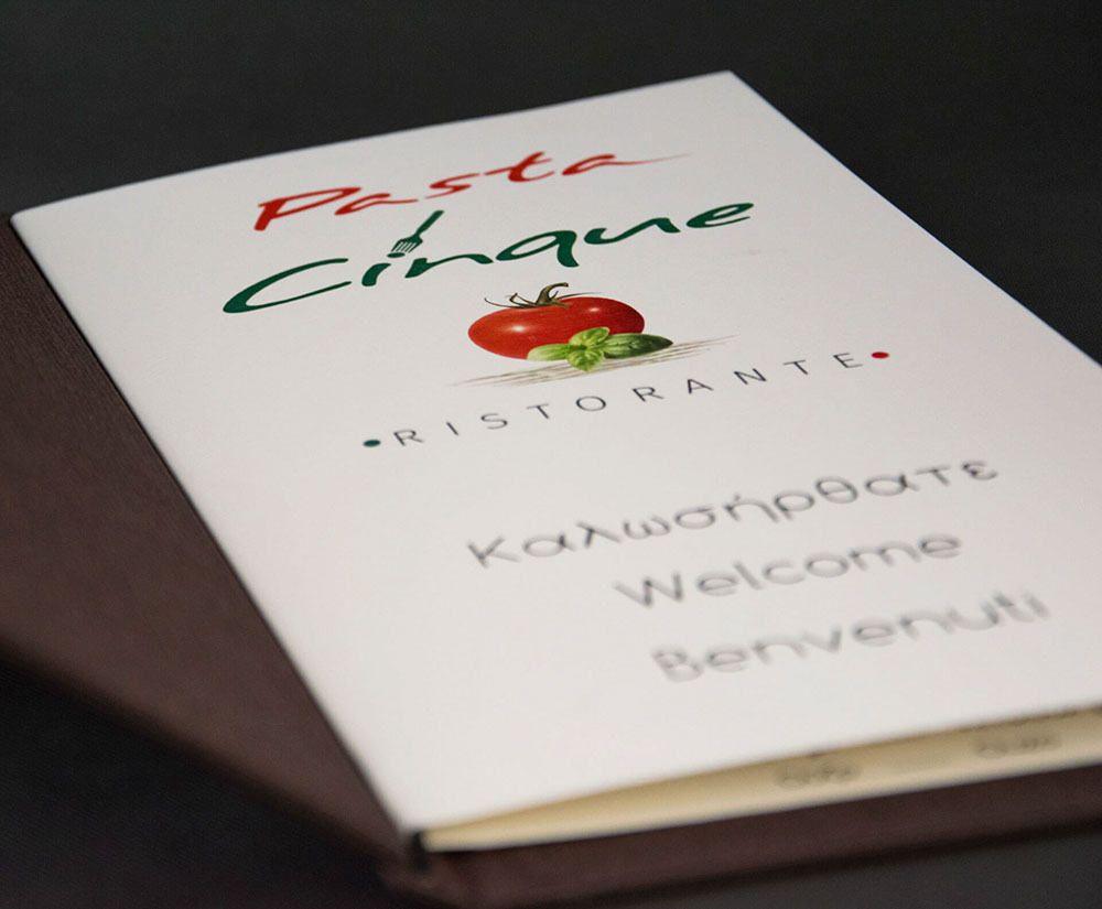 κατάλογος menu Pasta Cinque Wine List