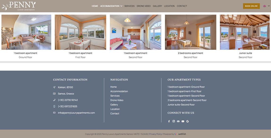 κατασκευή ιστοσελίδας Penny Luxury Apartments