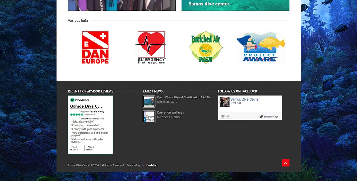 κατασκευή ιστοσελίδας Samos Diving