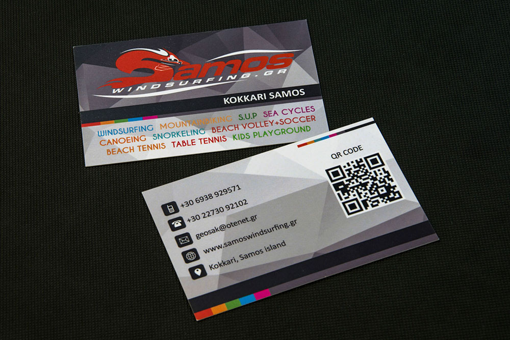 επαγγελματική κάρτα Samos Windsurfing