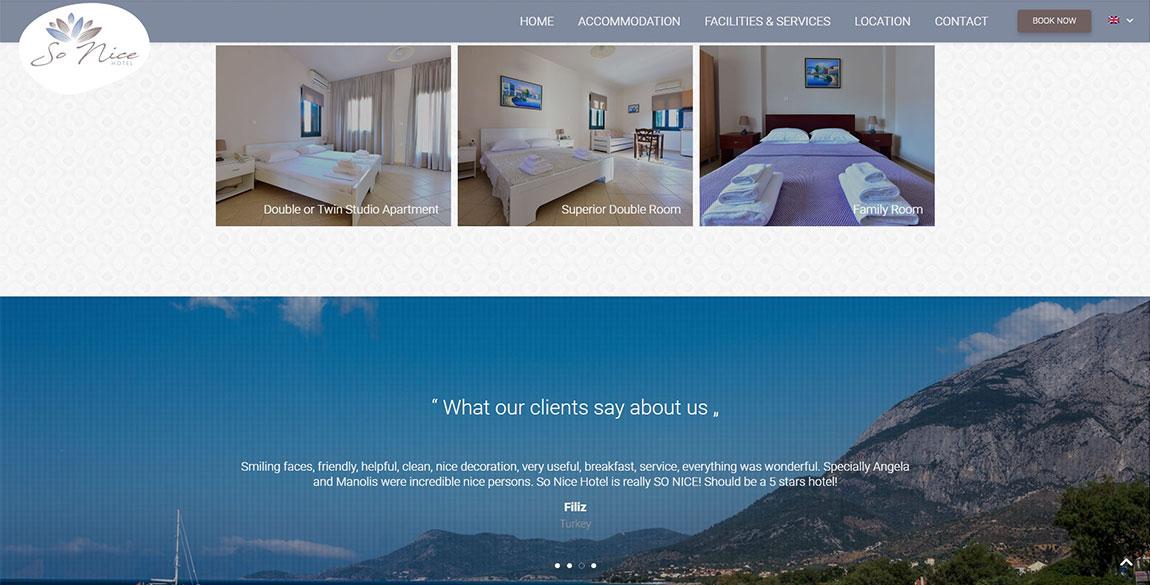 κατασκευή ιστοσελίδας So Nice Hotel