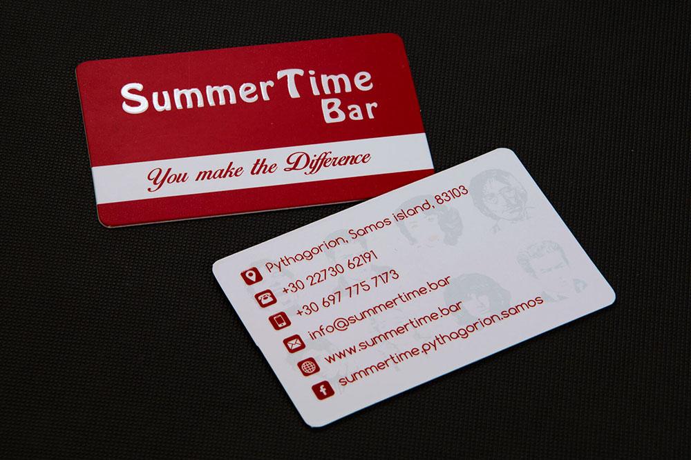 επαγγελματική κάρτα Summertime bar