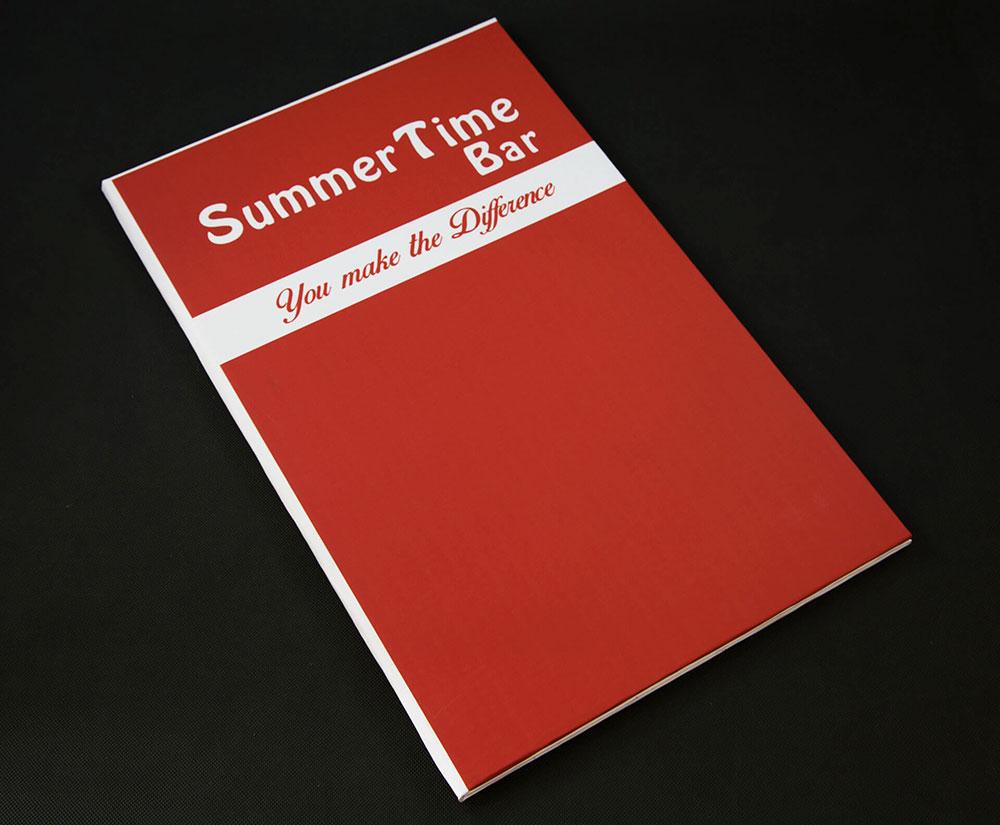 κατάλογος menu Summertime Bar Cocktail Menu
