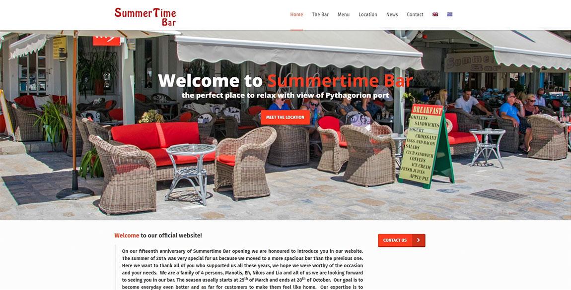 κατασκευή ιστοσελίδας Summertime Bar