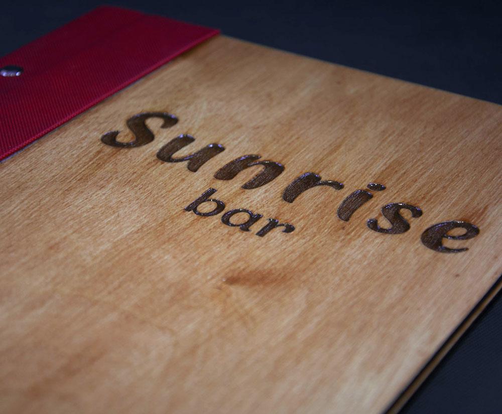 κατάλογος menu Sunrise Bar