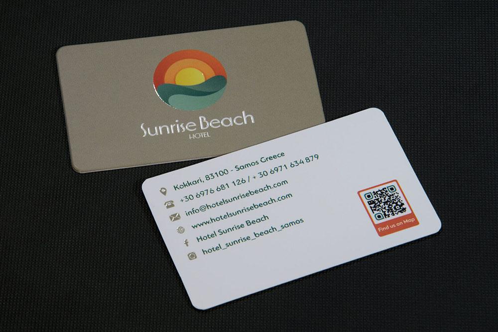 επαγγελματική κάρτα ξενοδοχείου Sunrise Beach Hotel