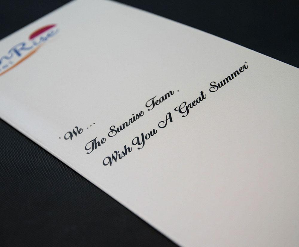 κατάλογος menu Sunrise Hotel