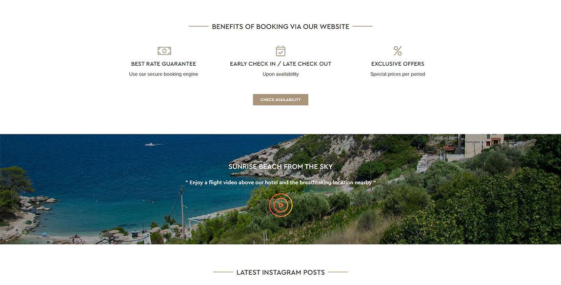 κατασκευή ιστοσελίδας Sunrise Beach Hotel