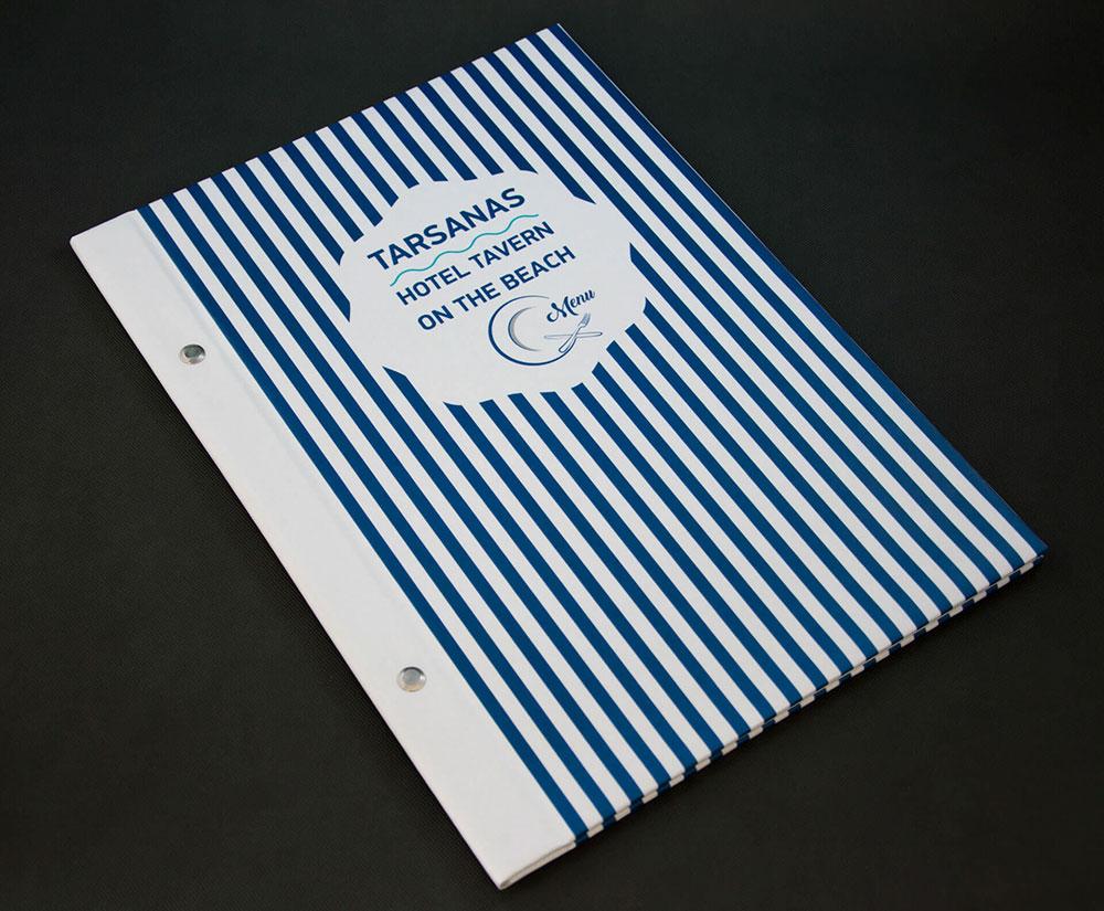 κατάλογος menu Tarsanas Hotel Tavern
