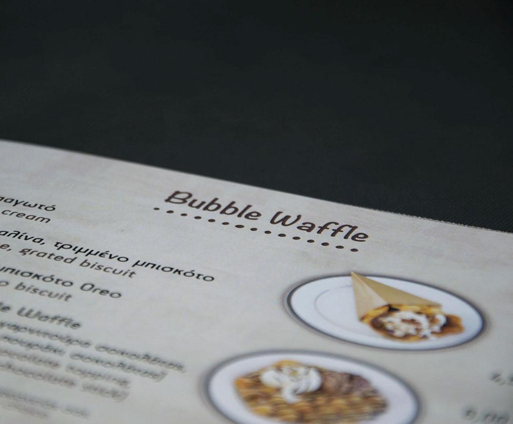 κατάλογος menu Vanillia Creperie